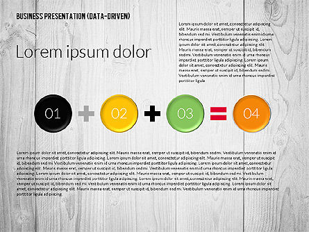 Data Driven Colored Business Presentation, Slide 6, 02437, Presentation Templates — PoweredTemplate.com
