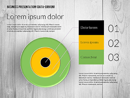 Data Driven Colored Business Presentation, Slide 7, 02437, Presentation Templates — PoweredTemplate.com