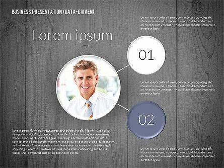 Data Driven Colored Business Presentation, Slide 9, 02437, Presentation Templates — PoweredTemplate.com