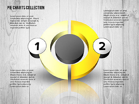 Pie Charts: 3D Donut Chart Collection #02439