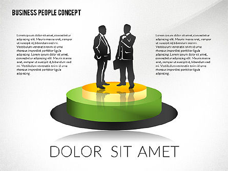 Silhouettes: Concept with Business People Silhouettes #02440