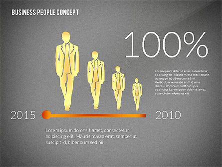 Concept with Business People Silhouettes, Slide 15, 02440, Silhouettes — PoweredTemplate.com