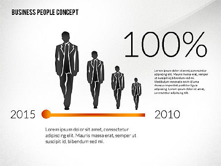 Concept with Business People Silhouettes, Slide 7, 02440, Silhouettes — PoweredTemplate.com