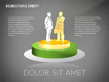 Concept with Business People Silhouettes, Slide 9, 02440, Silhouettes — PoweredTemplate.com
