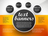 Text Boxes: Gris Banners de Texto Redondos #02441