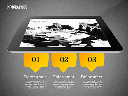 Infographics with Gadgets, Slide 10, 02442, Infographics — PoweredTemplate.com