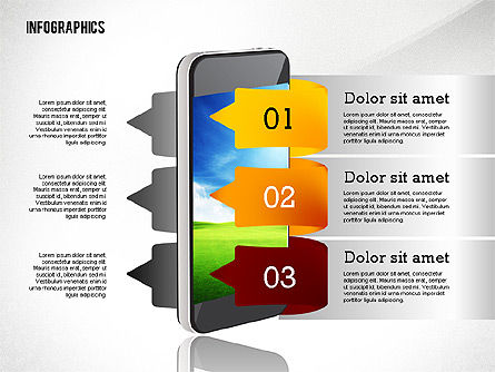 Infographics with Gadgets, Slide 3, 02442, Infographics — PoweredTemplate.com