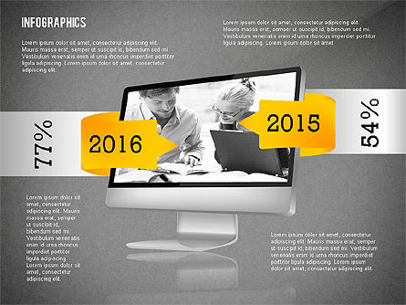 Infographics with Gadgets, Slide 9, 02442, Infographics — PoweredTemplate.com