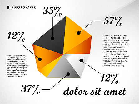 Shapes: Geometrical Business Shapes #02443