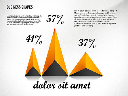 Geometrical Business Shapes, Slide 3, 02443, Shapes — PoweredTemplate.com