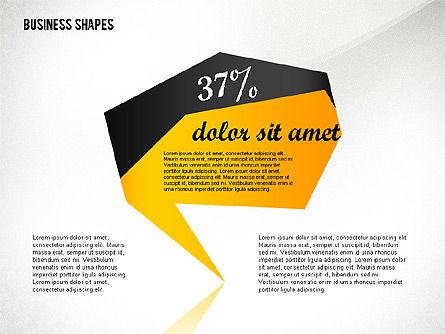 Geometrical Business Shapes, Slide 4, 02443, Shapes — PoweredTemplate.com