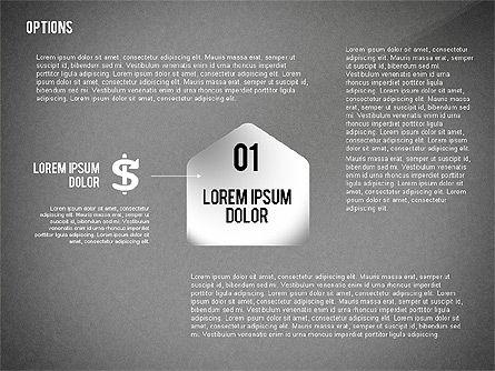 Geometric Options Shapes with Icons, Slide 10, 02444, Shapes — PoweredTemplate.com