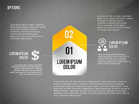 Geometric Options Shapes with Icons, Slide 11, 02444, Shapes — PoweredTemplate.com