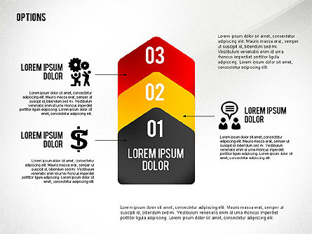 Geometric Options Shapes with Icons Slide 4
