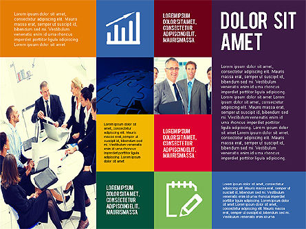 Fragmented Presentation Template, Slide 4, 02446, Presentation Templates — PoweredTemplate.com