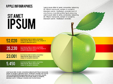 Apple Infographics, 02449, Infographics — PoweredTemplate.com