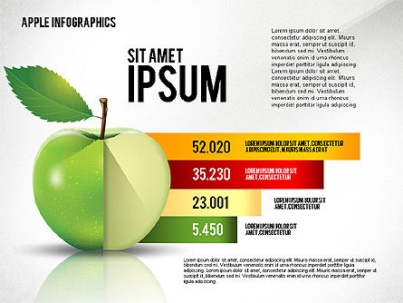 Apple Infographics, Slide 3, 02449, Infographics — PoweredTemplate.com
