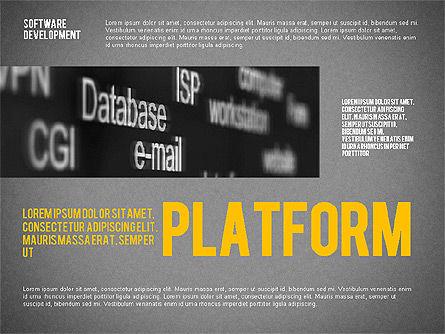 Software Development Presentation Template, Slide 12, 02450, Presentation Templates — PoweredTemplate.com