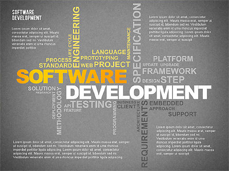 Software Development Presentation Template, Slide 9, 02450, Presentation Templates — PoweredTemplate.com