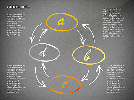Hand Drawn Style Process Chart Toolbox, Slide 12, 02451, Process Diagrams — PoweredTemplate.com