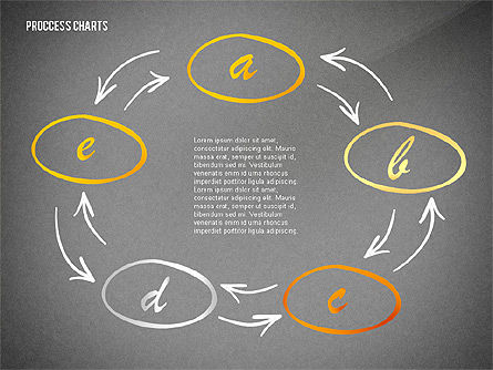 Hand Drawn Style Process Chart Toolbox, Slide 13, 02451, Process Diagrams — PoweredTemplate.com