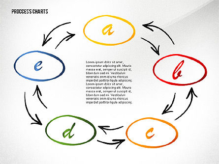 Hand Drawn Style Process Chart Toolbox, Slide 5, 02451, Process Diagrams — PoweredTemplate.com