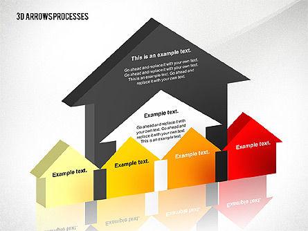 3D Process Arrows Toolbox, Slide 2, 02452, Process Diagrams — PoweredTemplate.com