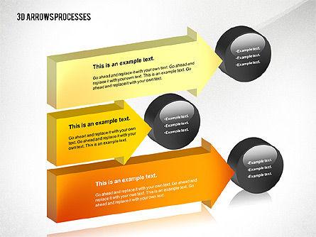 3D Process Arrows Toolbox, Slide 3, 02452, Process Diagrams — PoweredTemplate.com