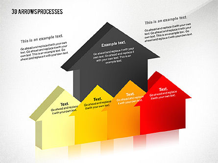 3D Process Arrows Toolbox, Slide 4, 02452, Process Diagrams — PoweredTemplate.com
