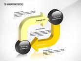 Process Diagrams: 3d Werkwijze pijlen toolbox #02452