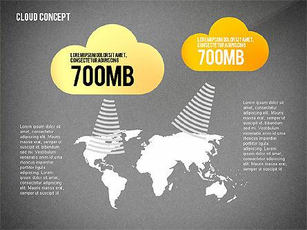Cloud Services Presentation Template, Slide 13, 02453, Presentation Templates — PoweredTemplate.com