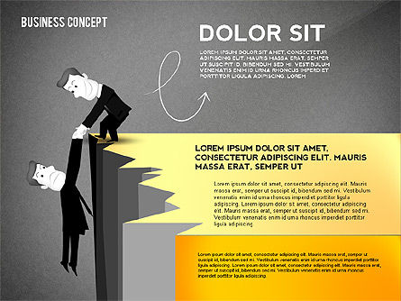 Presentation Template with Character, Slide 10, 02454, Presentation Templates — PoweredTemplate.com