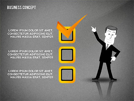 Presentation Template with Character, Slide 11, 02454, Presentation Templates — PoweredTemplate.com