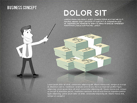Presentation Template with Character, Slide 9, 02454, Presentation Templates — PoweredTemplate.com