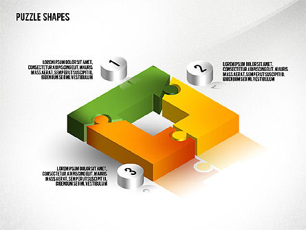 Puzzle Diagrams: Isometric Puzzle Shapes #02456