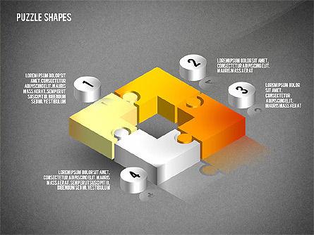 Isometric Puzzle Shapes, Slide 10, 02456, Puzzle Diagrams — PoweredTemplate.com