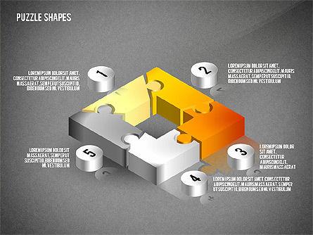 Isometric Puzzle Shapes, Slide 11, 02456, Puzzle Diagrams — PoweredTemplate.com