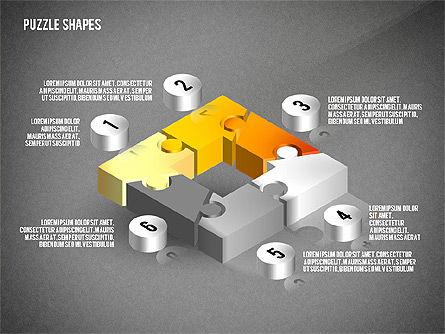 Isometric Puzzle Shapes, Slide 12, 02456, Puzzle Diagrams — PoweredTemplate.com