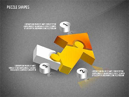 Isometric Puzzle Shapes, Slide 13, 02456, Puzzle Diagrams — PoweredTemplate.com