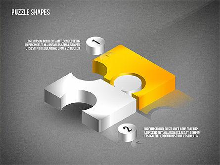 Isometric Puzzle Shapes, Slide 14, 02456, Puzzle Diagrams — PoweredTemplate.com