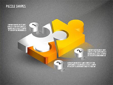 Isometric Puzzle Shapes, Slide 15, 02456, Puzzle Diagrams — PoweredTemplate.com