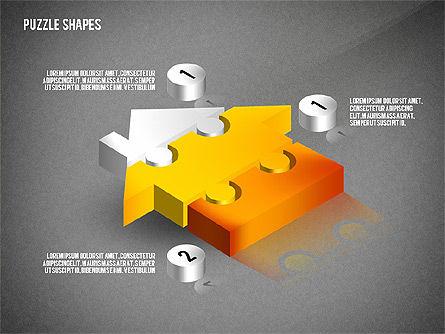 Isometric Puzzle Shapes, Slide 16, 02456, Puzzle Diagrams — PoweredTemplate.com