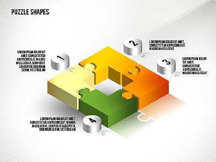 Isometric Puzzle Shapes, Slide 2, 02456, Puzzle Diagrams — PoweredTemplate.com