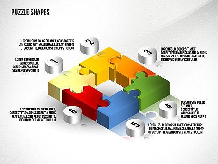 Isometric Puzzle Shapes, Slide 4, 02456, Puzzle Diagrams — PoweredTemplate.com