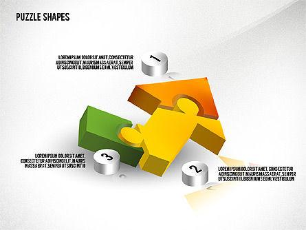 Isometric Puzzle Shapes, Slide 5, 02456, Puzzle Diagrams — PoweredTemplate.com