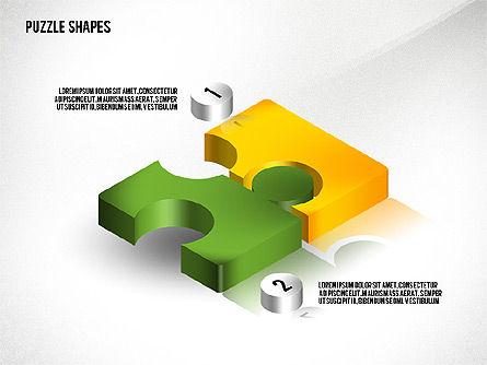 Isometric Puzzle Shapes, Slide 6, 02456, Puzzle Diagrams — PoweredTemplate.com