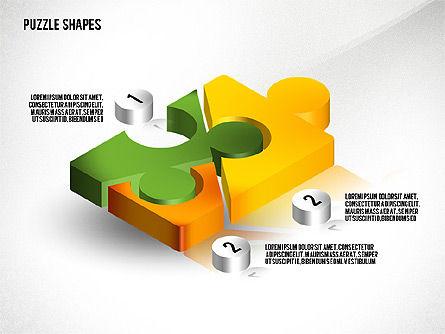 Isometric Puzzle Shapes, Slide 7, 02456, Puzzle Diagrams — PoweredTemplate.com
