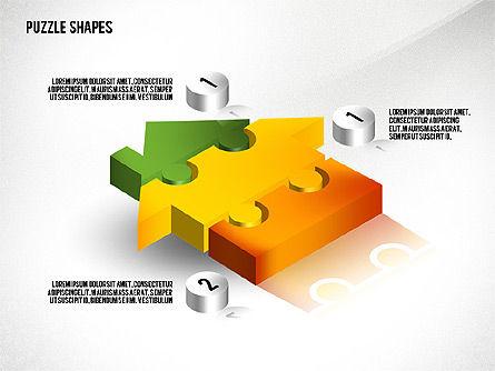 Isometric Puzzle Shapes, Slide 8, 02456, Puzzle Diagrams — PoweredTemplate.com