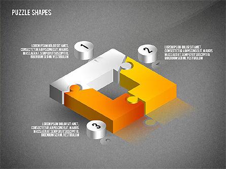 Isometric Puzzle Shapes, Slide 9, 02456, Puzzle Diagrams — PoweredTemplate.com