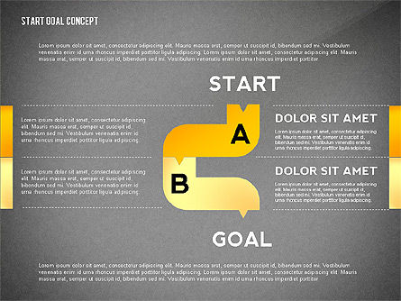 Set Start Reach Goal Toolbox, Slide 10, 02457, Stage Diagrams — PoweredTemplate.com